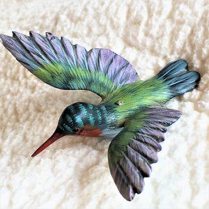 HAND CARVED ART BIRDS